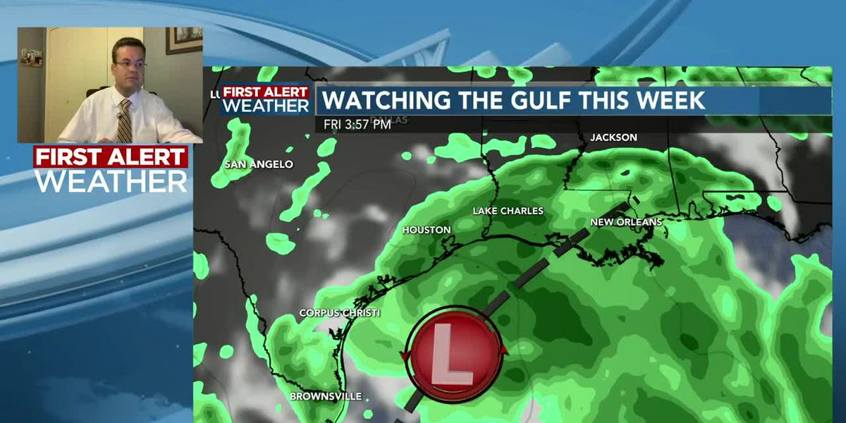 FIRST ALERT FORECAST: Watching the Gulf as a heavier rain threat arrives Friday/Saturday