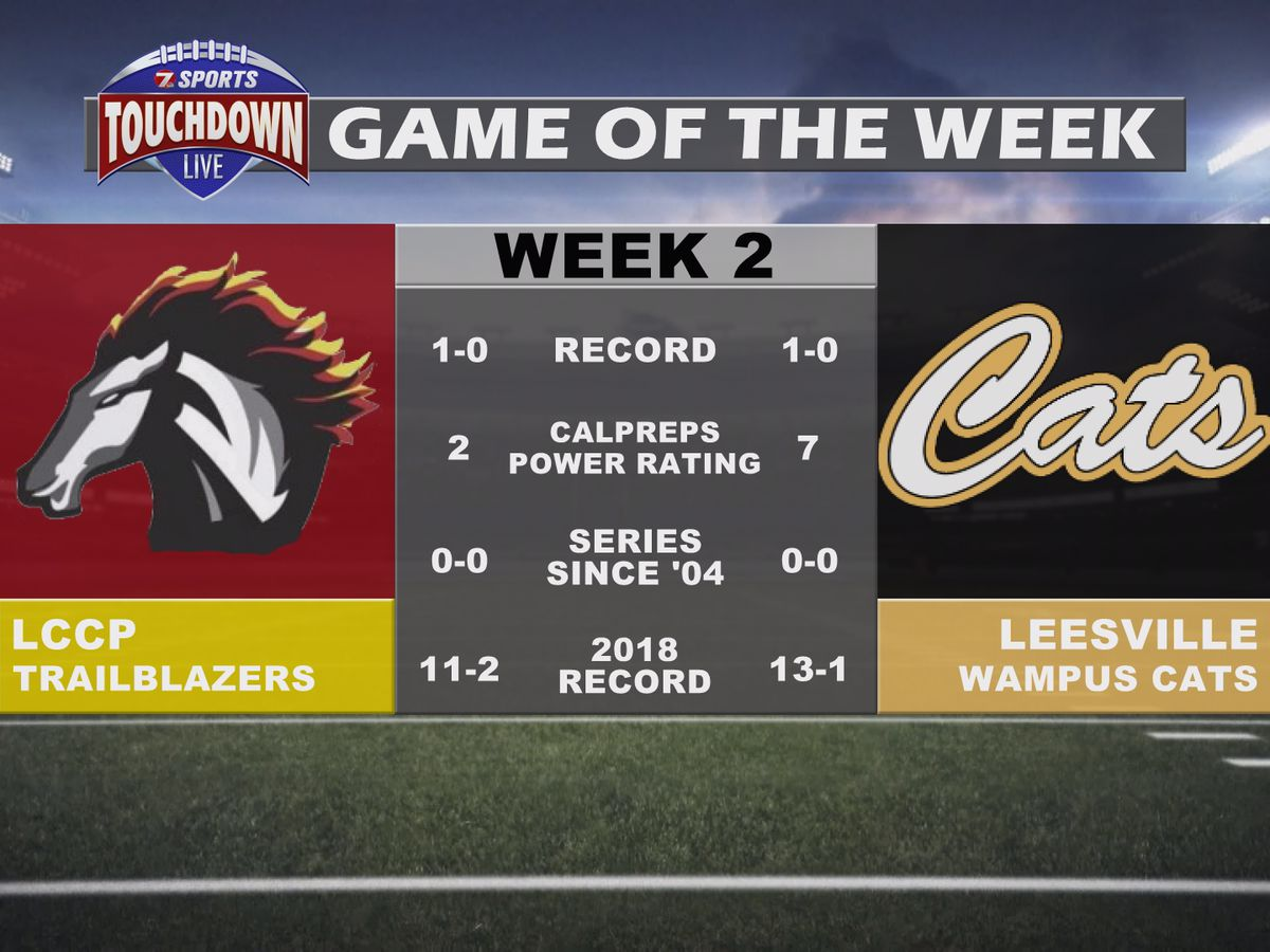 LCCP at Leesville named week two TDL Game of the Week