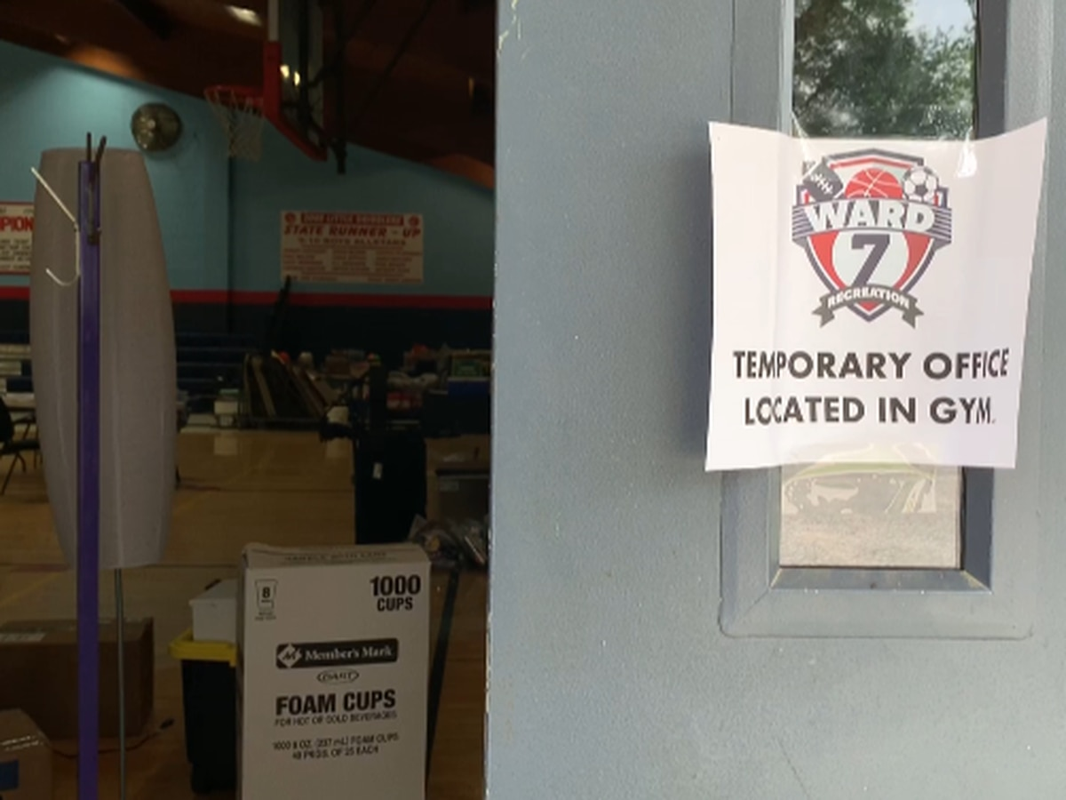 Vinton Ward 7 Rec Center flooded, indoor court closed to public for the time being