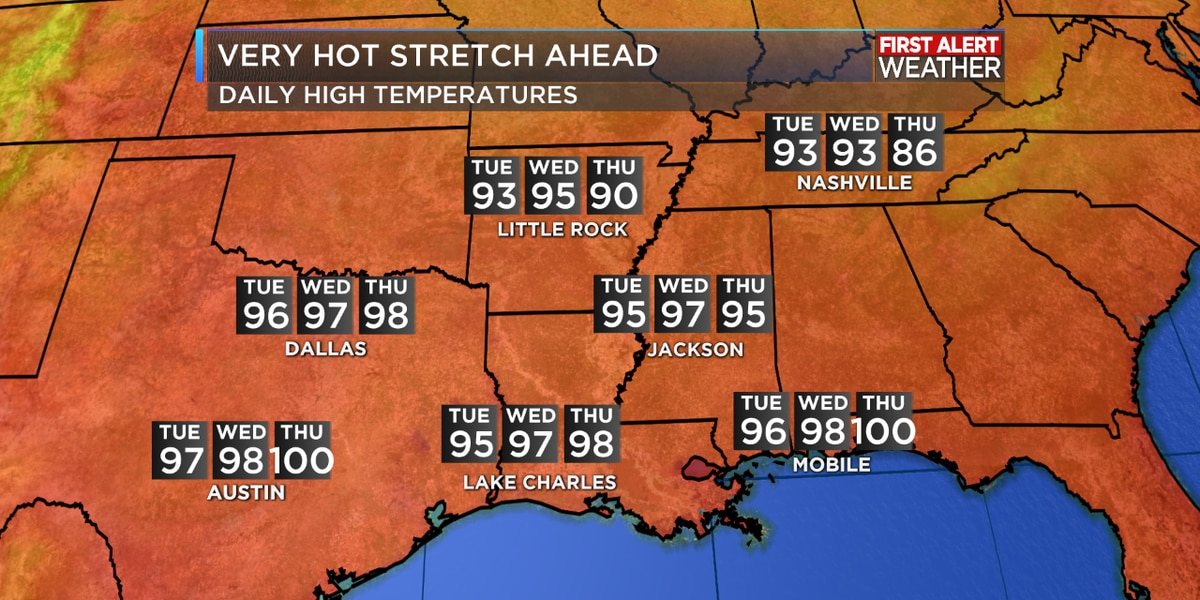 FIRST ALERT FORECAST: Heat wave builds as Dorian works up the East Coast this week