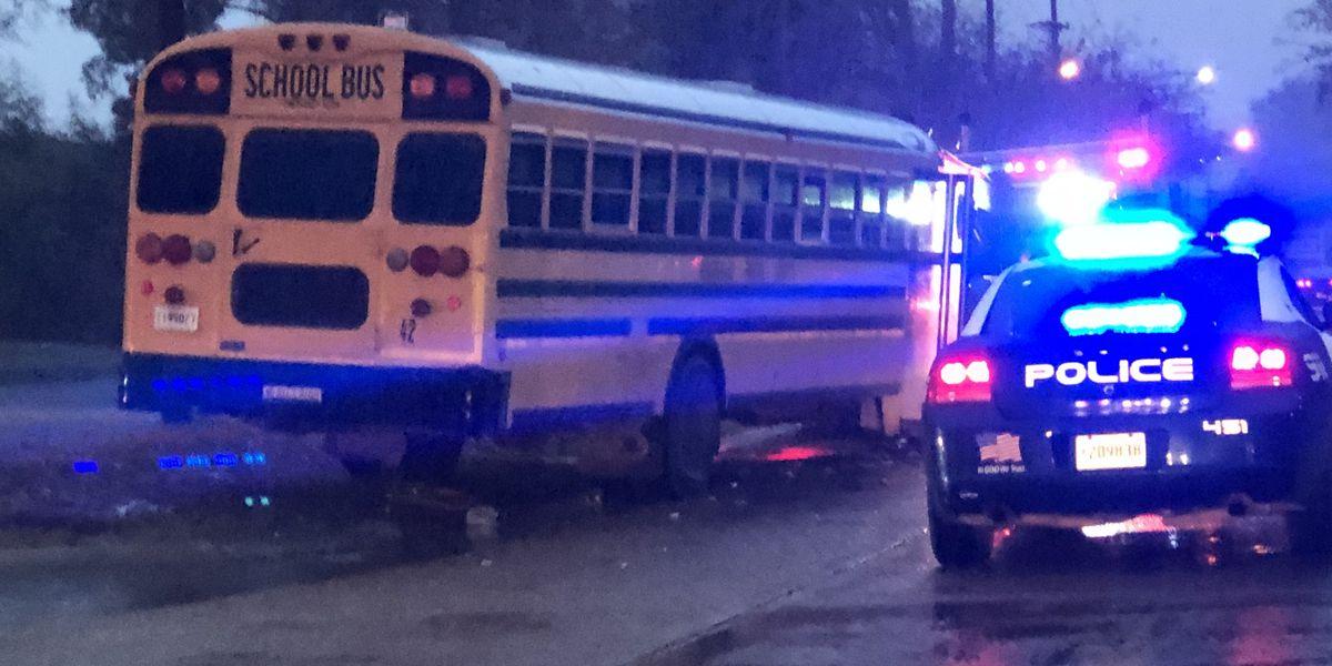 DPD: School bus hits dump truck on U.S. 171 in DeRidder, no injuries