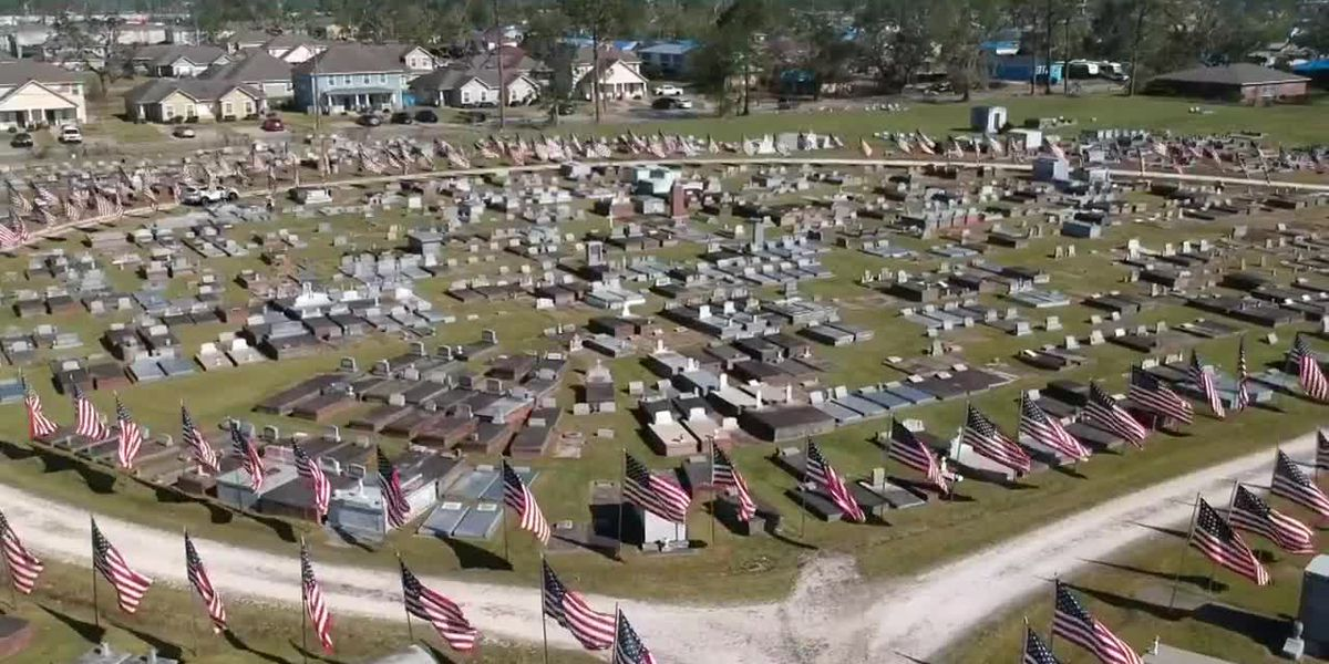 VIDEO: Avenue of Flags at Orange Grove Graceland Cemetery