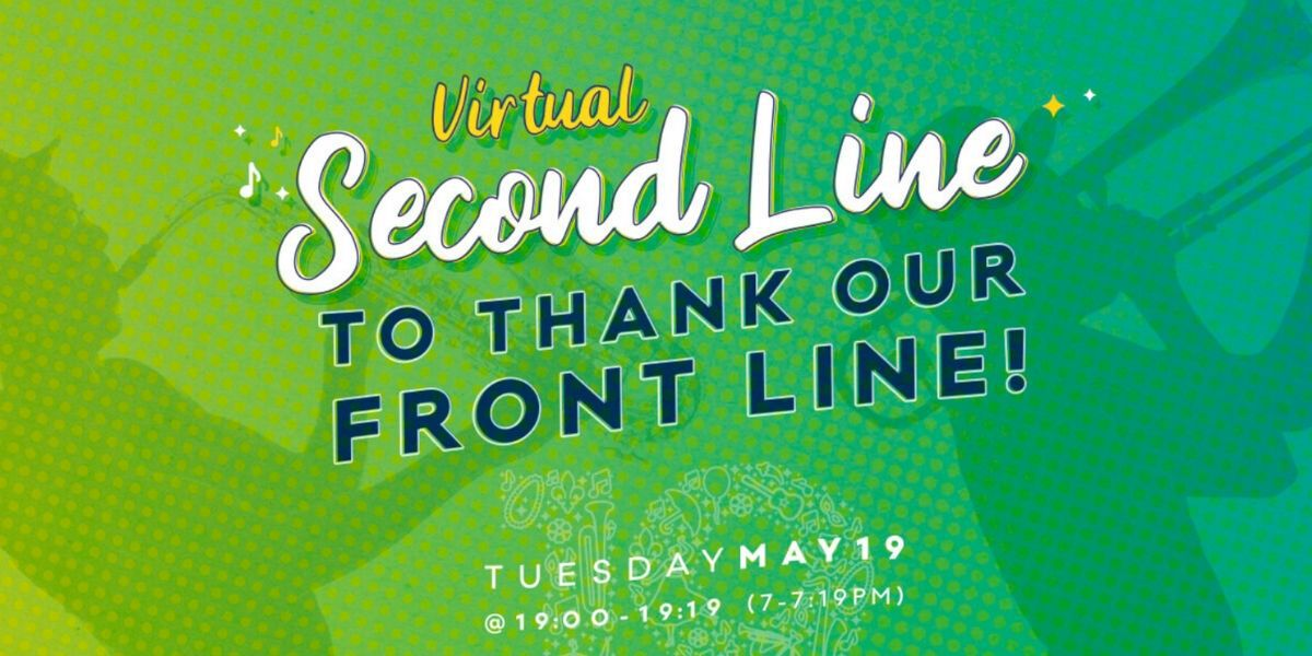 Celebrate the front line with a virtual second line on May 19
