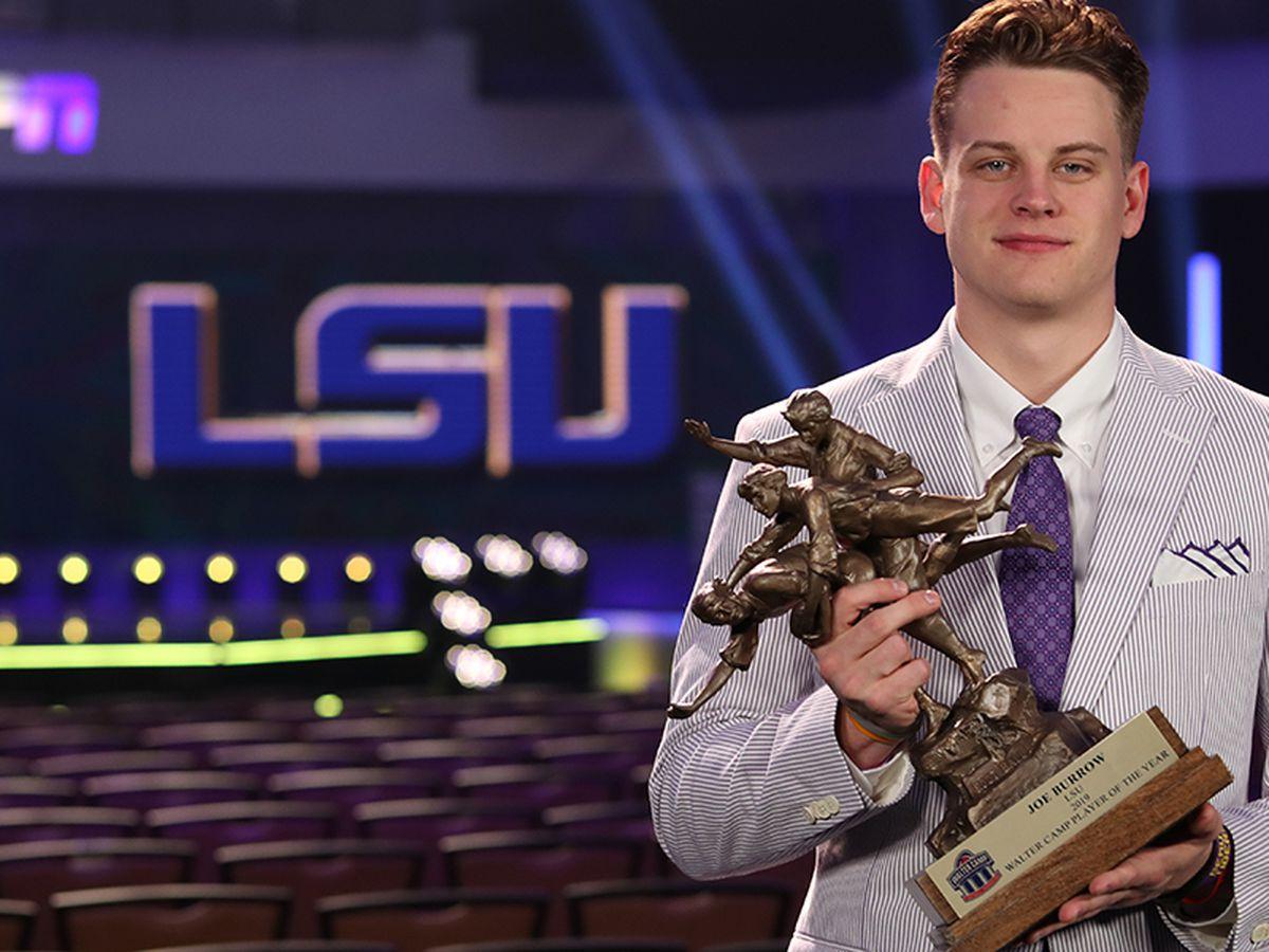 LSU QB Joe Burrow wins Camp, O'Brien, Maxwell awards
