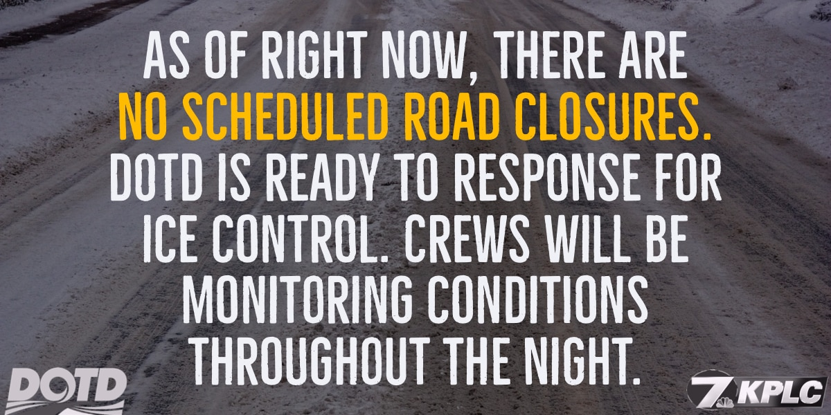 Use only reliable sources for roadway closures and conditions