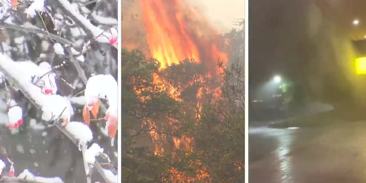 Fire, ice and rain: Intense weather ahead