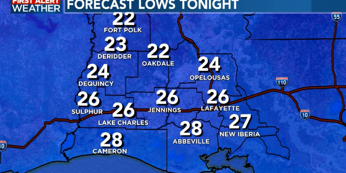 FIRST ALERT FORECAST: Hang in there, just one more night of freezing temperatures