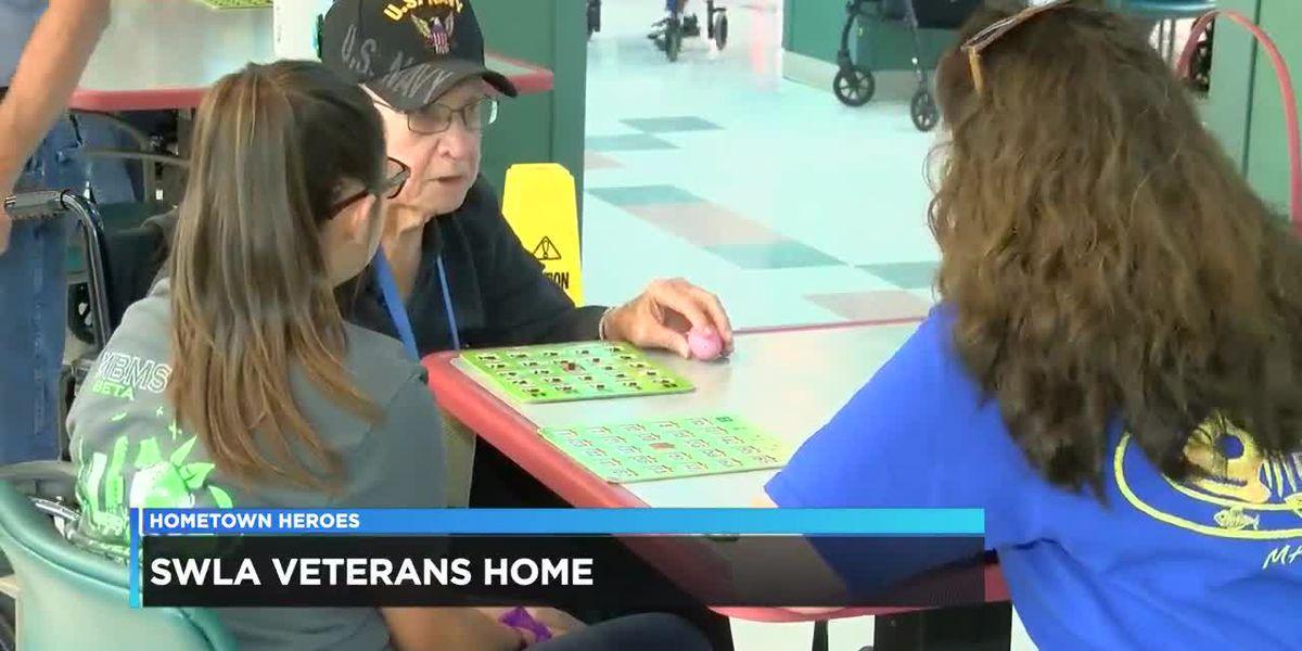 Jr. Beta students visit veterans in Jennings
