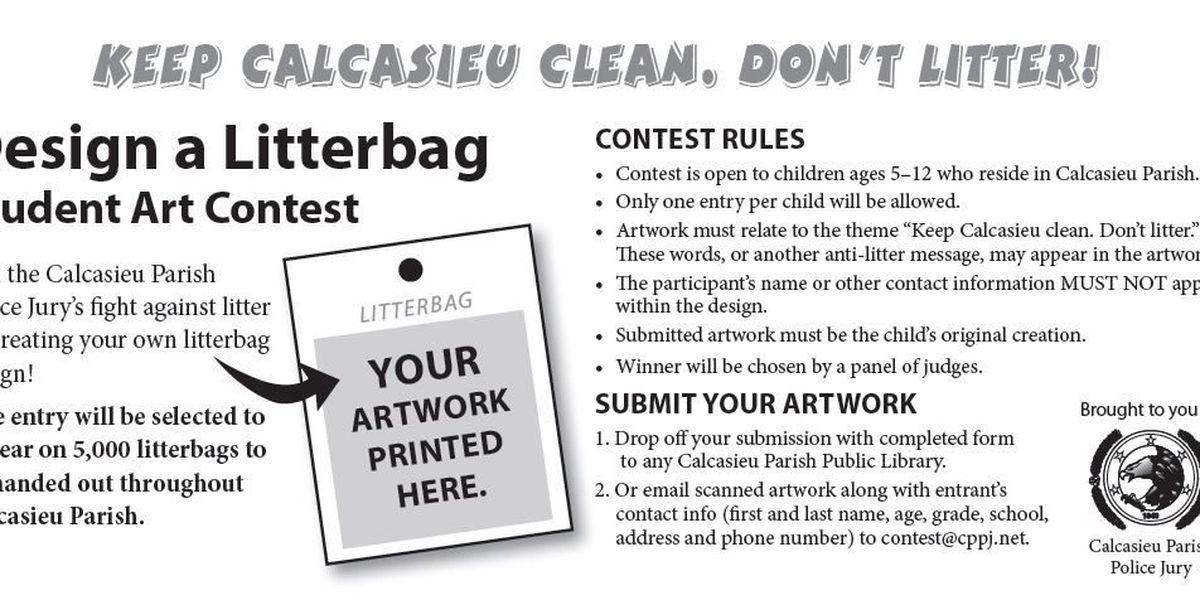 Police Jury holding anti-litter art contest