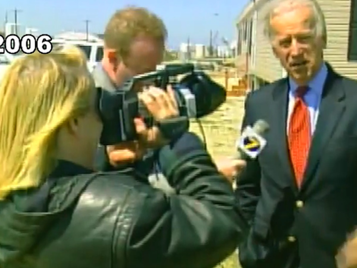 Joe Biden visited SWLA in 2006 to see Hurricane Rita damage
