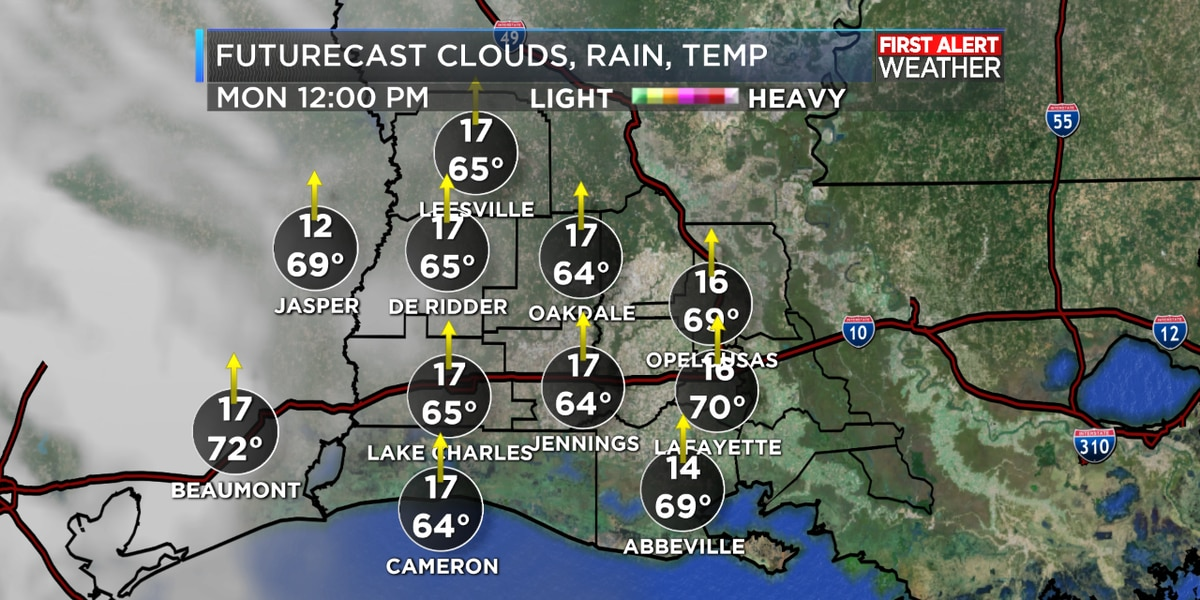 FIRST ALERT FORECAST: A wonderful afternoon with sunny skies, rain chances return to start the week