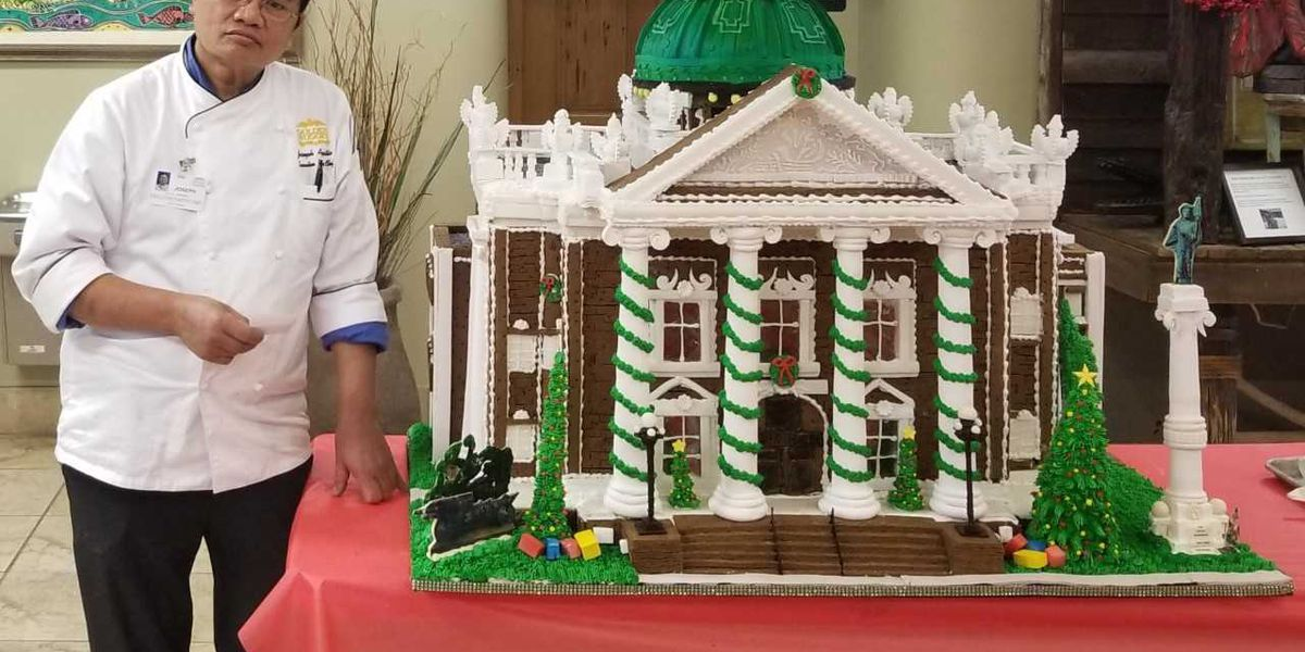 Lake Charles Courthouse replica wins 2018 Gingerbread House contest